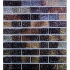 Самоклеюча декоративна 3D панель під цеглу мікс 700x770x5мм