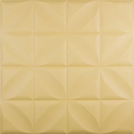 Самоклеющаяся 3D панель желтый ромб 700x700x8мм