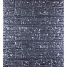 Самоклеющаяся декоративная 3D панель под рваный кирпич серый 700x770x8мм