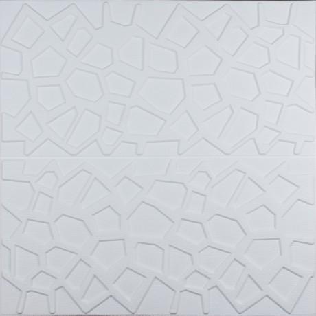 Самоклеющаяся 3D панель белая паутинка 700x700x8мм