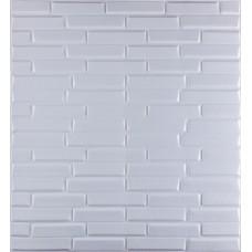 Самоклеющаяся декоративная 3D панель белая кладка 700x770x8мм
