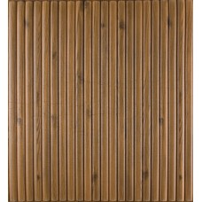 Самоклеющаяся декоративная 3D панель коричневый бамбук 700x700x8мм