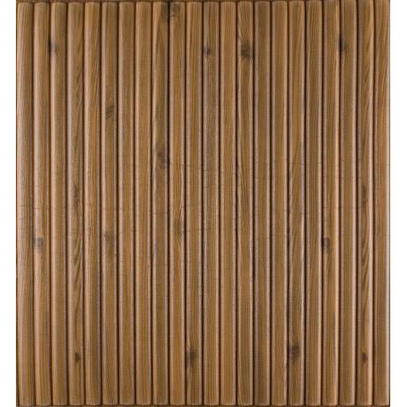 Самоклеющаяся декоративная 3D панель коричневый бамбук