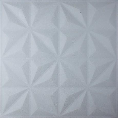 Самоклеюча декоративна 3D панель біла зірки 700x700x8мм