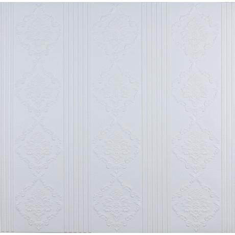 Самоклеющаяся 3D панель белая модерн 700x700x5.5мм