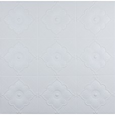 Самоклеющаяся 3D панель белая лилия 700x700x5.5мм