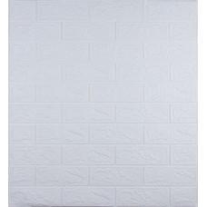 Самоклеюча декоративна 3D панель під білу цеглу 700x770x3 мм