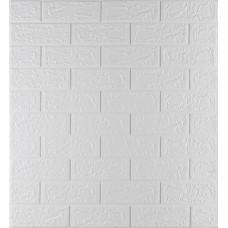 Самоклеюча декоративна 3D панель під білу цеглу 700x770x5 мм