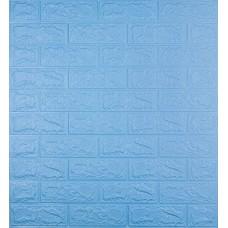 Самоклеюча декоративна 3D панель під блакитну цеглу 700x770x5мм