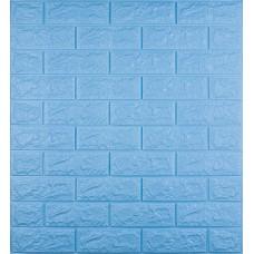 Самоклеюча декоративна 3D панель під блакитну цеглу 700x770x7мм