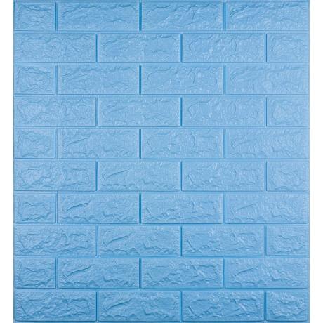 Самоклеющаяся декоративная 3D панель под голубой кирпич 7 мм