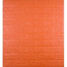 Самоклеюча декоративна 3D панель під помаранчеву цеглу 700x770x5 мм