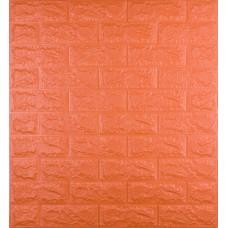 Самоклеюча декоративна 3D панель під помаранчеву цеглу 700x770x7 мм