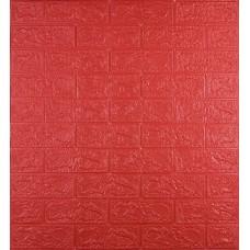 Самоклеющаяся декоративная 3D панель под красный кирпич 700x770x3 мм