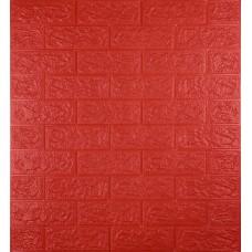 Самоклеющаяся декоративная 3D панель под красный кирпич 700x770x5мм