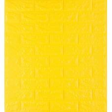 Самоклейка декоративна 3D панель під жовту цеглу 700x770x7мм