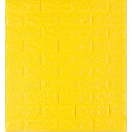 Самоклейка декоративна 3D панель під жовту цеглу