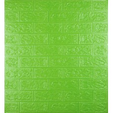 Самоклеющаяся декоративная 3D панель под зеленый кирпич 700x770x5мм