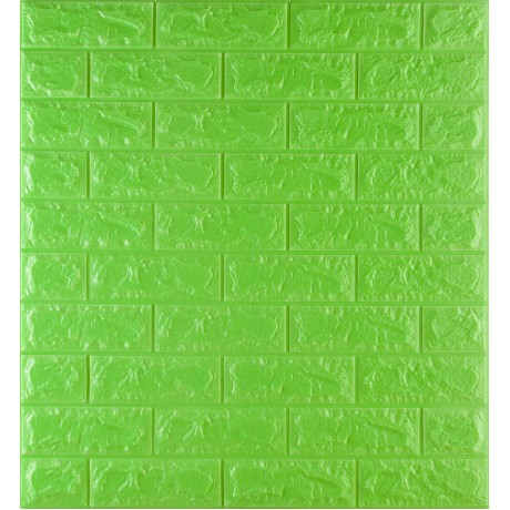 Самоклейка декоративна 3D панель під зелену цеглу