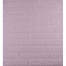 Самоклеющаяся декоративная 3D панель под светло-фиолетовый кирпич 700x770x5мм