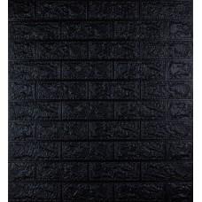 Самоклеющаяся декоративная 3D панель под черный кирпич 700x770x5мм