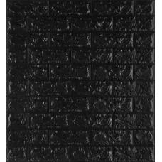 Самоклеющаяся декоративная 3D панель под черный кирпич 700x770x7мм