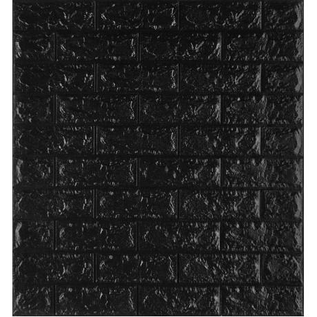 Самоклеющаяся декоративная 3D панель под черный кирпич