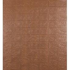Самоклеющаяся декоративная 3D панель под коричневый кирпич 700x770x3 мм