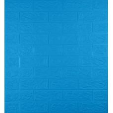 Самоклеющаяся декоративная 3D панель под синий кирпич 700x770x5мм