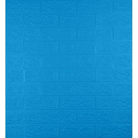 Самоклеющаяся декоративная 3D панель под синий кирпич 5 мм
