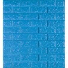 Самоклейка декоративна 3D панель під синю цеглу 700x770x7мм