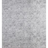 Самоклеюча декоративна 3D панель під цеглу світло-сірий мармур 700x770x5мм