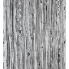 Самоклеющаяся декоративная 3D панель под дерево цвета зебры 700x700x6мм